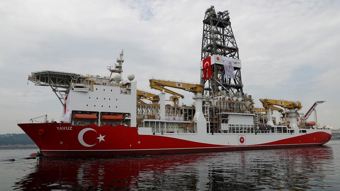Turkish drilling vessel Yavuz sets sail in Izmit Bay, on its way to the Mediterranean Sea, off the port of Dilovasi, Turkey, June 20, 2019. REUTERS