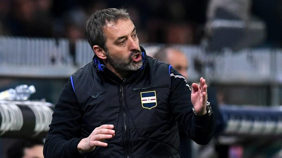Sampdoria coach Marco Giampaolo gestures REUTERS/Jennifer Lorenzini/File Photo