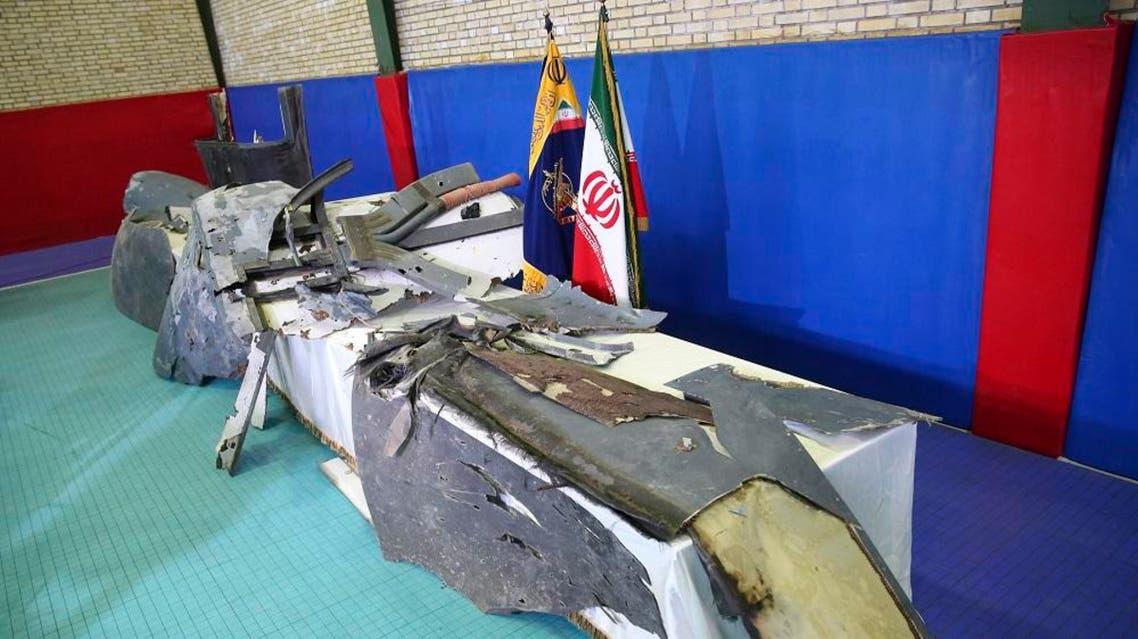 US drone debris - IRIB handout through AFP