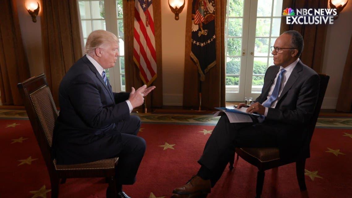 مصاحبه ترامپ با ان بی سی نیوز