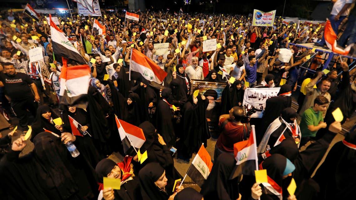 مظاهرة لانصار الصدر ببغداد