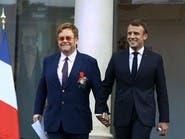 ماكرون وإلتون جون يدا بيد لمكافحة الإيدز