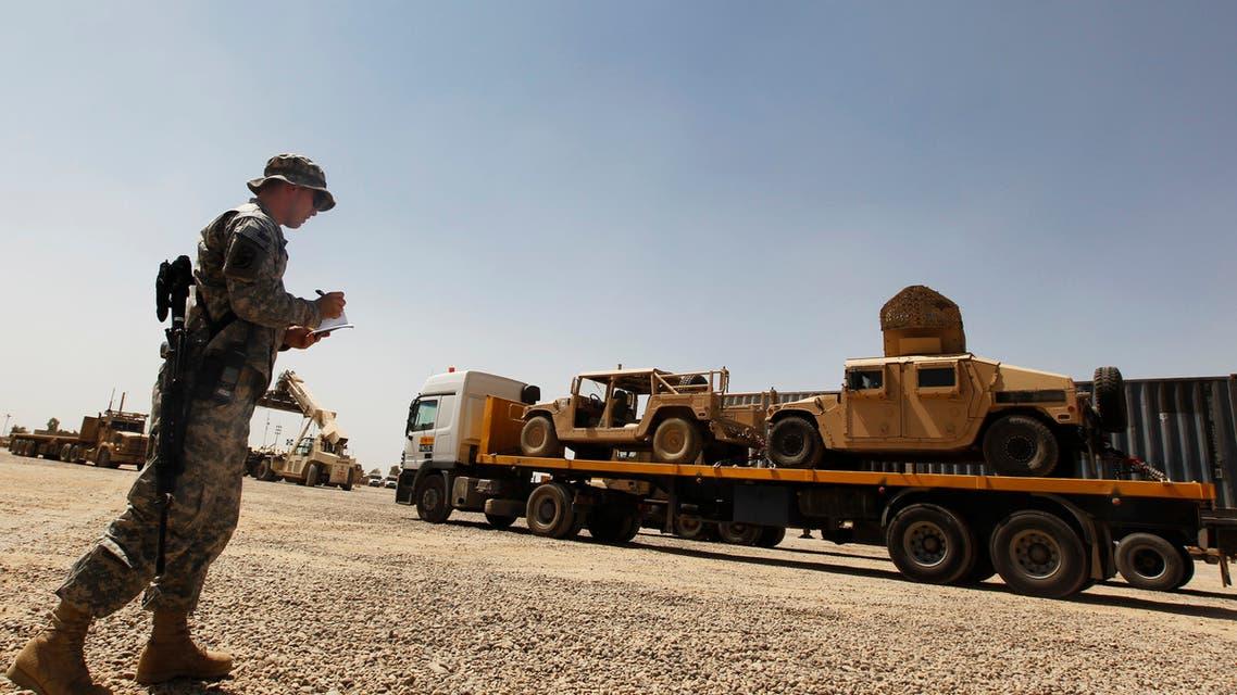 جندي أميركي في قاعدة بلد في العراق