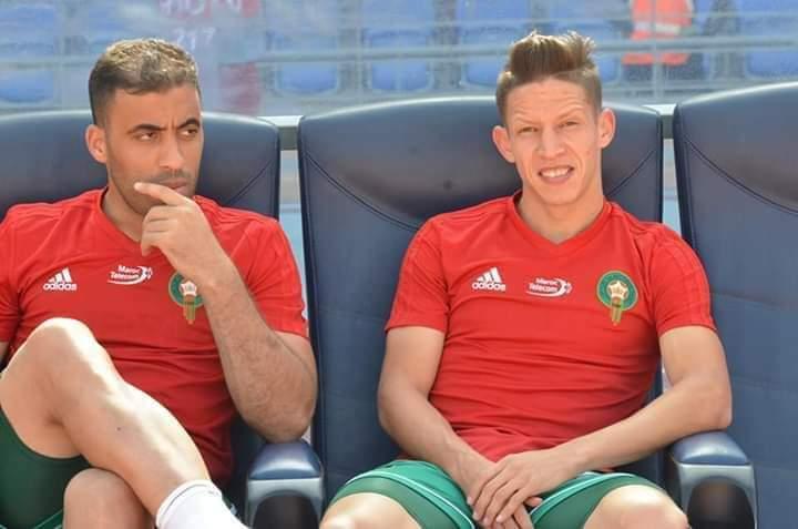 حمدالله بجانب باعدي خلال مباراة سابقة