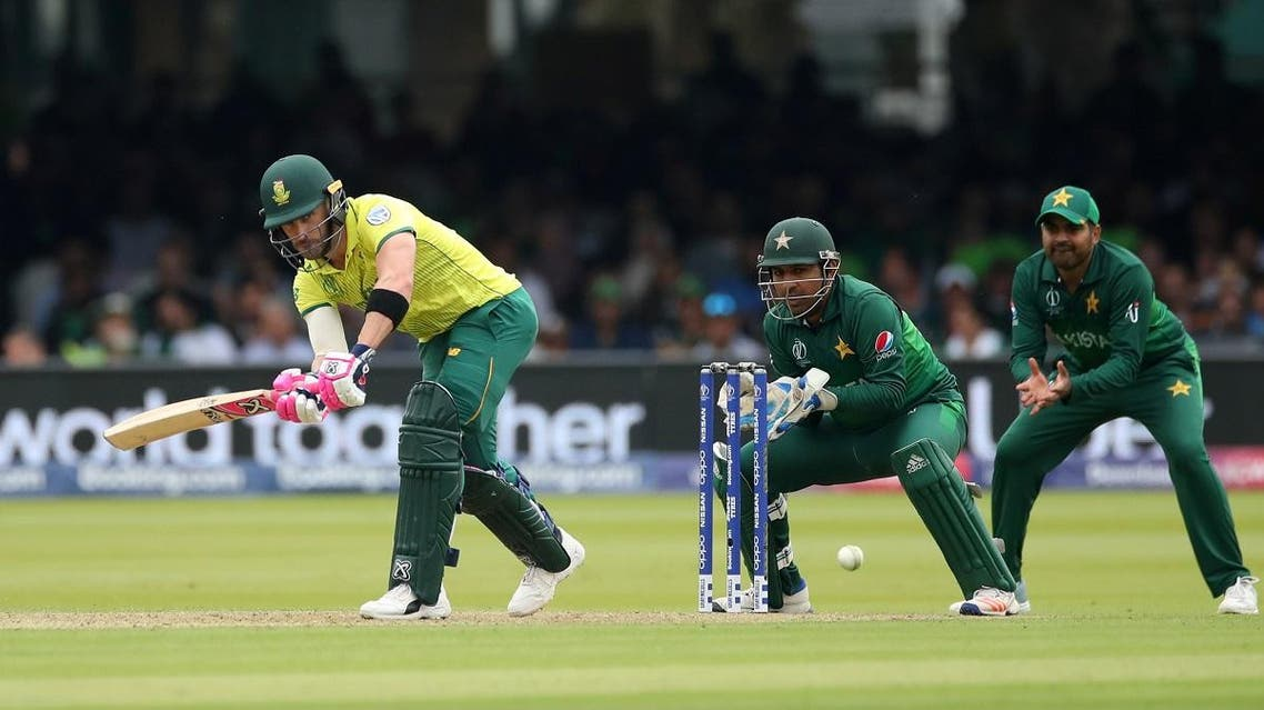 South Africa's Faf du Plessis in action against Pakistan in the ICC Cricket World Cup match at Lord's, London, on June 23, 2019. (Reuters)
