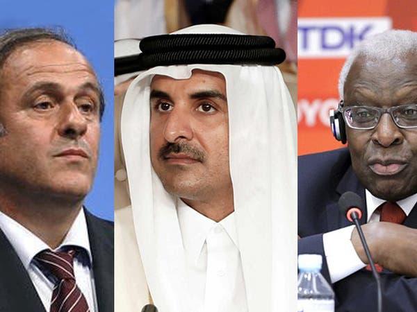 """""""التحقيقات"""" تؤكد تورط أمير قطر في ملفات فساد بلاتيني ولامين دياك"""