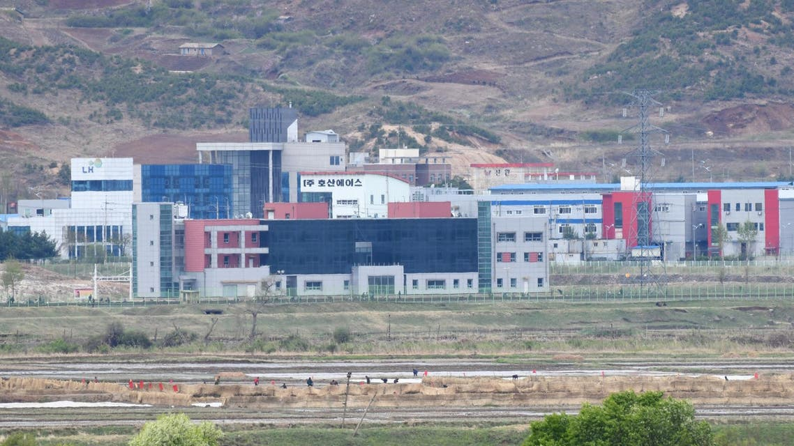 North Korea's Kaesong joint industrial complex area is seen from South Korea's Taesungdong freedom village. (AFP)