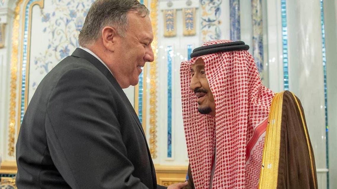 الملك سلمان يستقبل بومبيو في جدة