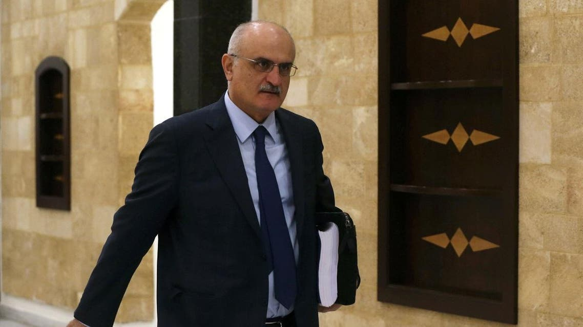 Lebanon's Finance Minister Ali Hassan Khalil walks to attend the cabinet meeting in Baabda. (Reuters)