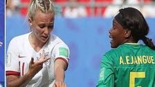 شاهد لاعبة كرة إفريقية تبصق على إنجليزية في كأس العالم