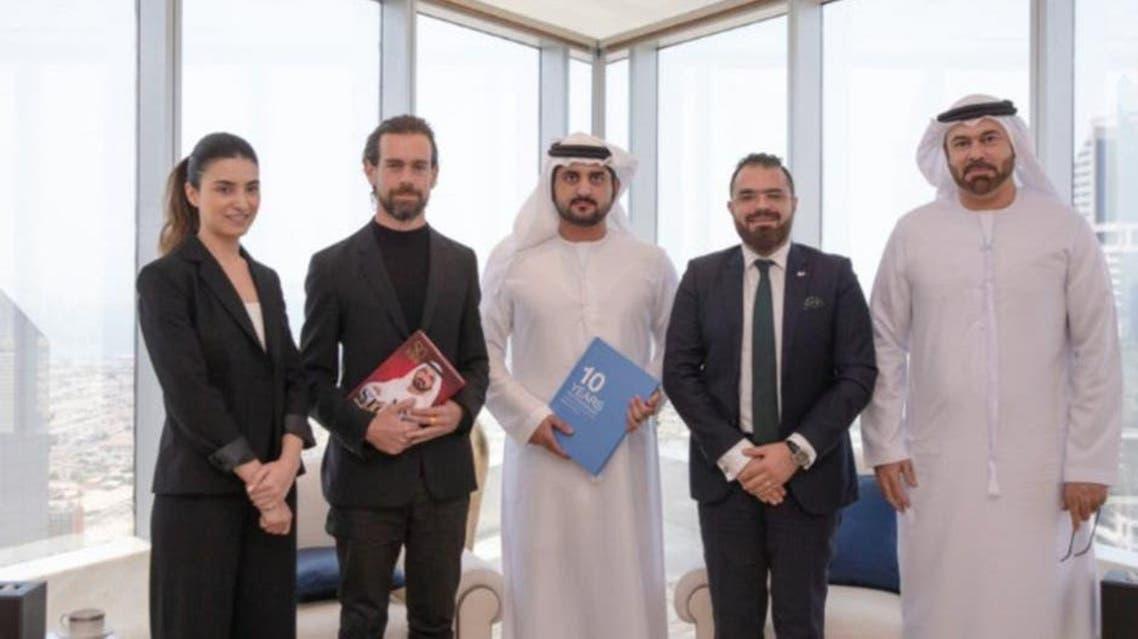 Dubai airport welcom of Twitter head