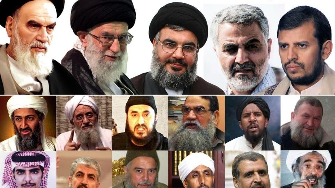 إيران وقادة جماعاتها الإرهابية