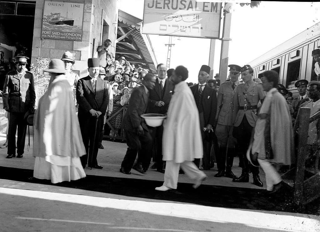 هيلا سيلاسي بالقدس عام 1936