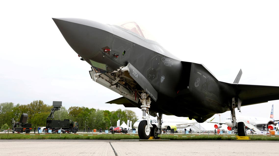 A Lockheed Martin F-35 Lightning II fighter jet is landing at the Payerne Air Base during flight and ground tests, as Switzerland is looking for a new fighter jet to replace its aging fleet, on June 7, 2019 in Payerne.