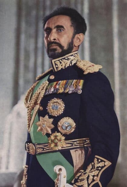 صورة للإمبراطور الإثيوبي هيلا سيلاسي