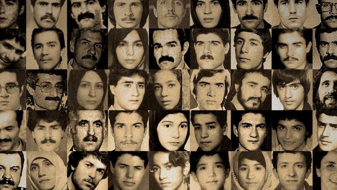 بعض السجناء السياسيين الذي أعدموا بسجون ايران في 1988