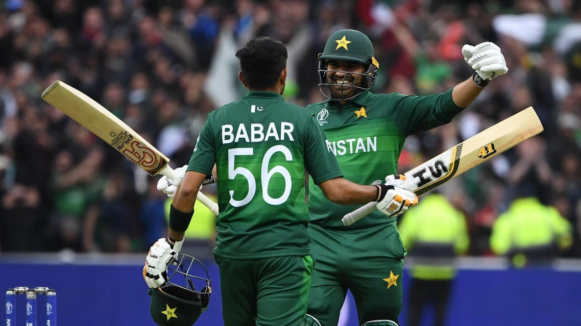 Babar shared a fourth-wicket partnership of 126 with Haris Sohail. (AFP)