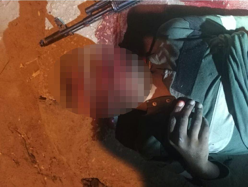 جثة أحد الإرهابيين