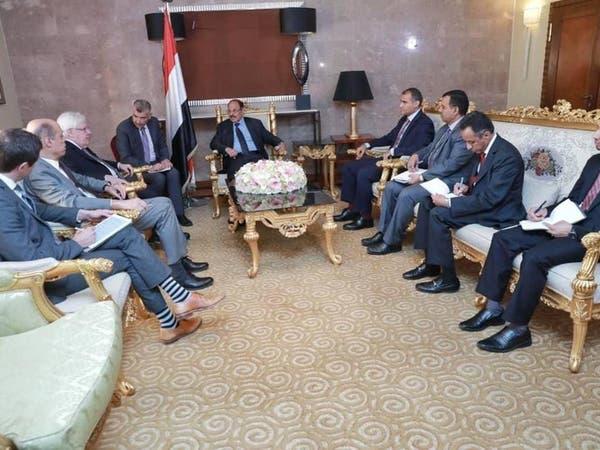 """لقاء """"مثمر"""" بين الشرعية اليمنية والمبعوث الأممي"""