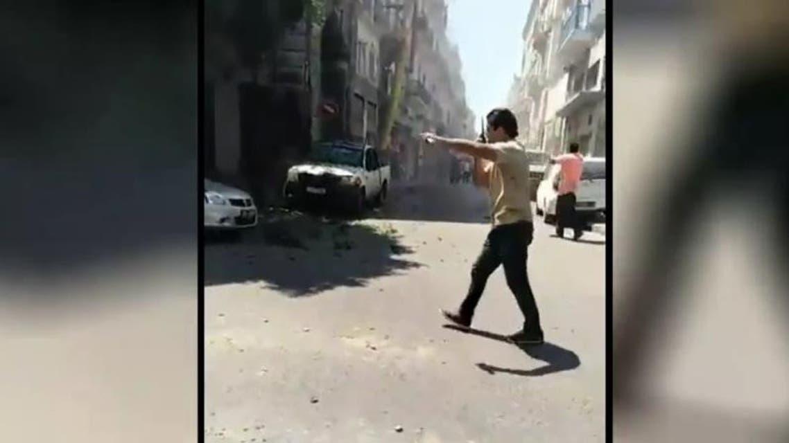 Tunisia explosion 1. (Screen grab)