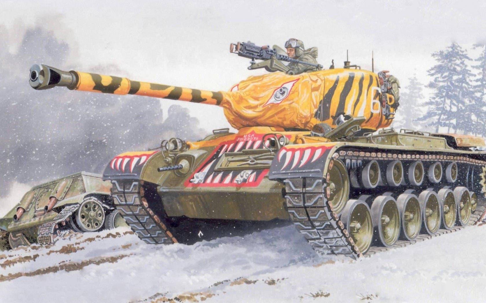 لوحة تخيلية للقوات الأميركية بالحرب الكورية
