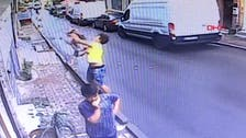 Viral video shows lucky catch of toddler falling off a balcony