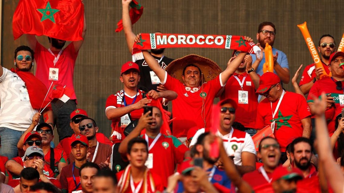 Morocco fans before the match against Ivory Coast at the Al Salam Stadium, Cairo, on June 28, 2019. (Reuters)