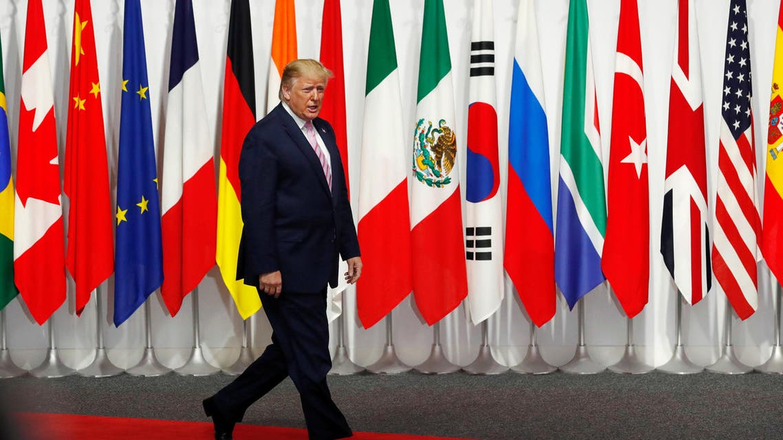 US President Donald Trump arrives at the G20 summit in Osaka on June 28, 2019. (Reuters)
