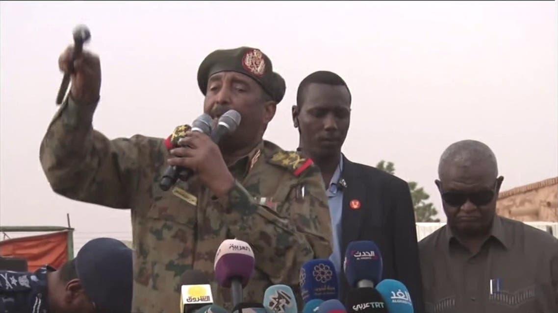 Lieutenant General Abdel Fattah al-Burhan, the head of the Transitional Military Council.
