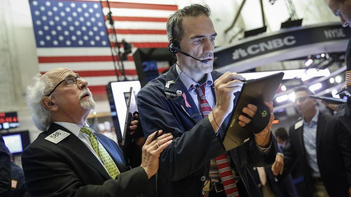 US stocks finished down slightly at the close on Friday but are still on pace for a strong month. (AFP)