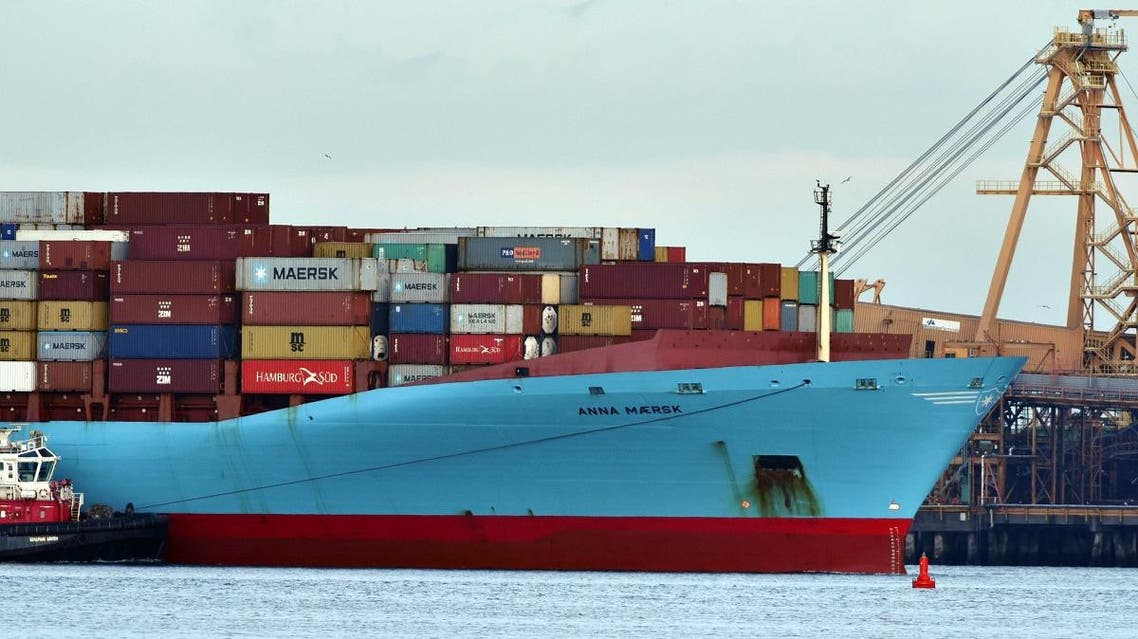 The Anna Maersk arrives at Deltaport in Tsawwassen, British Columbia, Canada, on June 29, 2019, to off load 69 containers of garbage that were returned from the Philippines. (AFP)
