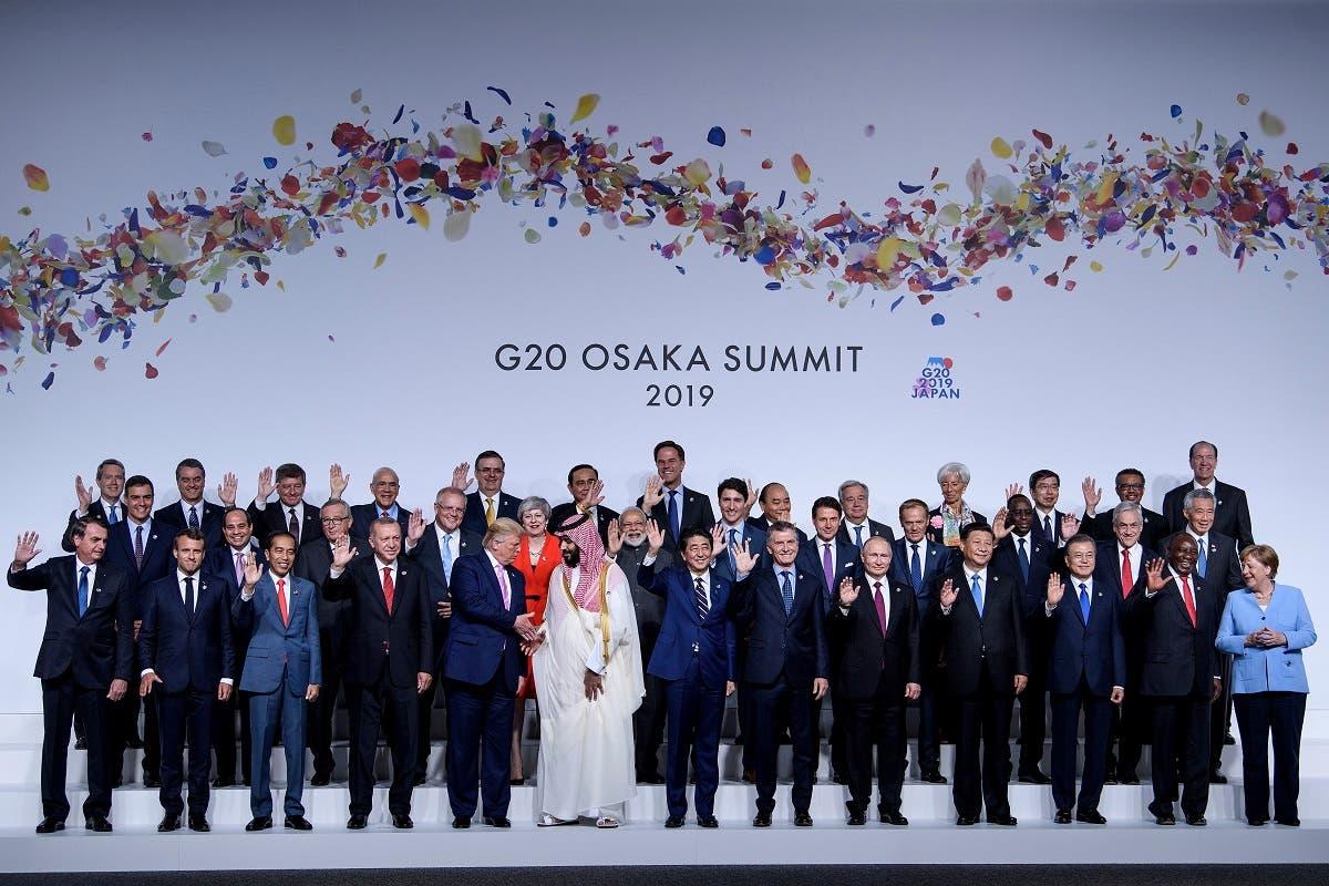 An image of the G20 leaders at Osaka, Japan, last year. (AFP)