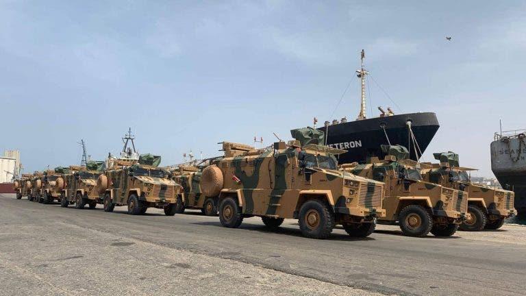 عربات عسكرية تركية في طرابلس (أرشيفية)