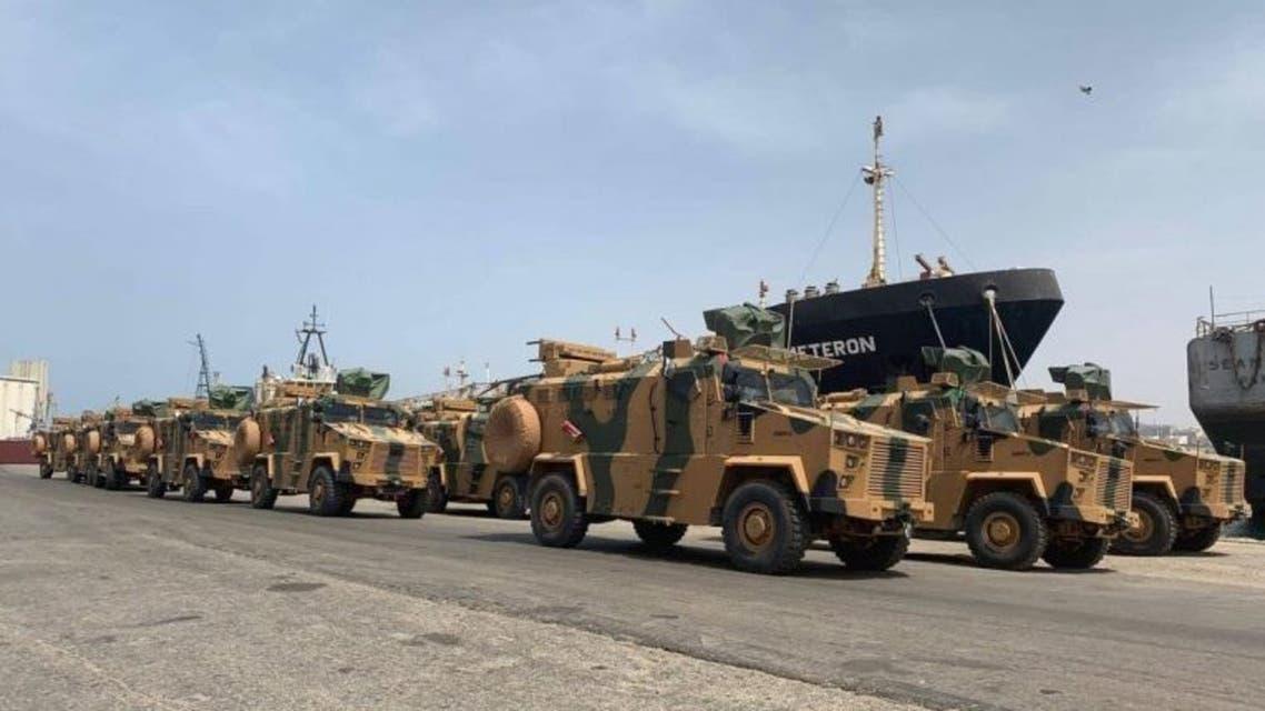 عربات عسكرية تركية في طرابلس