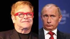 """إلتون جون يهاجم بوتين لوصفه قيم الليبرالية بـ""""البالية"""""""