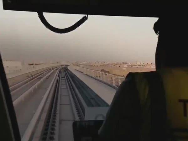 شاهد قطار الرياض في رحلة تجريبية إلى محطة قصر الحكم