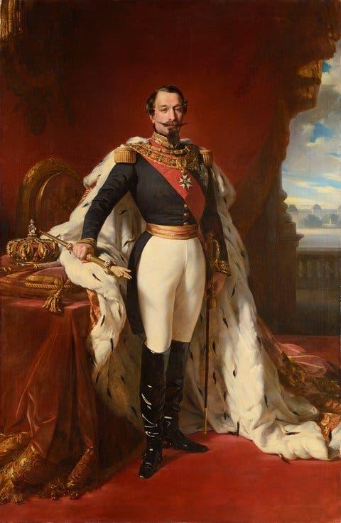 لوحة زيتية تجسد الإمبراطور الفرنسي نابليون الثالث