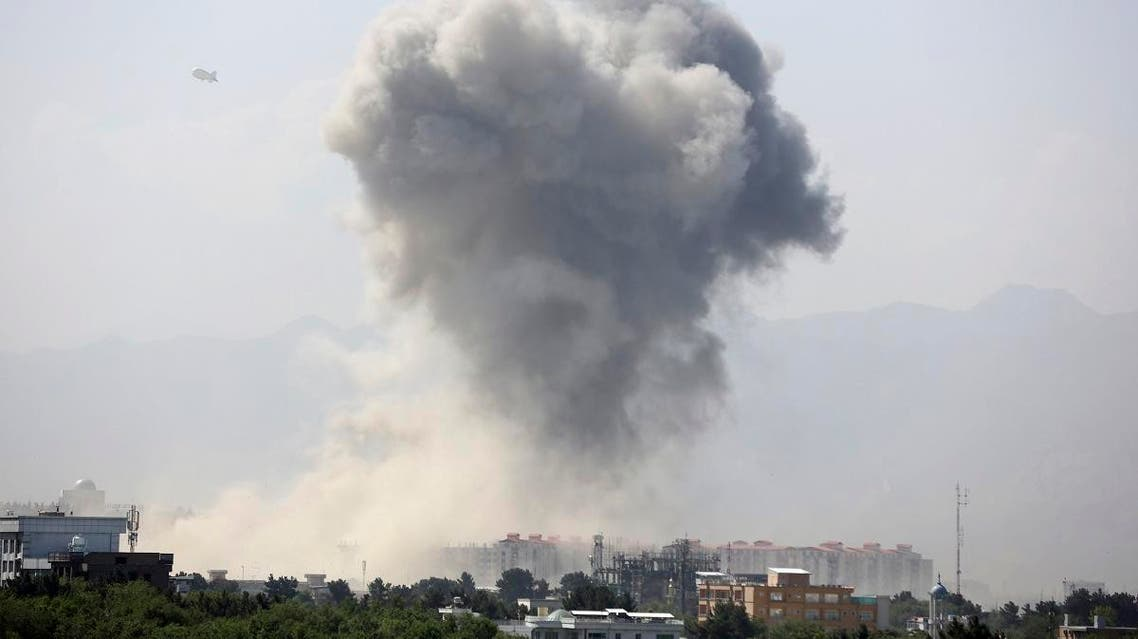 Smokes rises after an explosion in Kabul, Afghanistan, Monday, July 1, 2019. (AP)