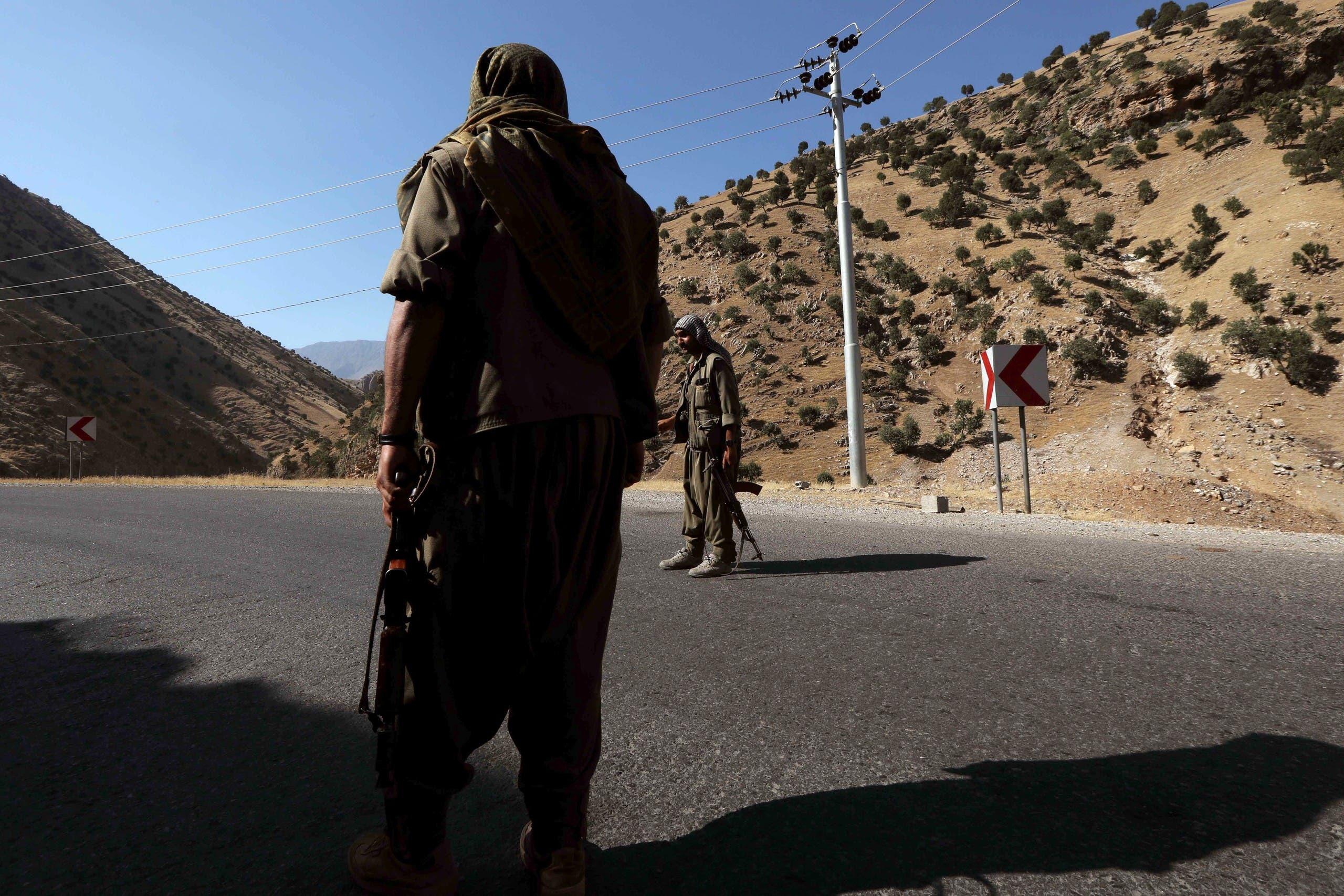 عناصر من حزب العمال الكردستاني في مناطق عراقية حدودية مع تركيا (أرشيفية)