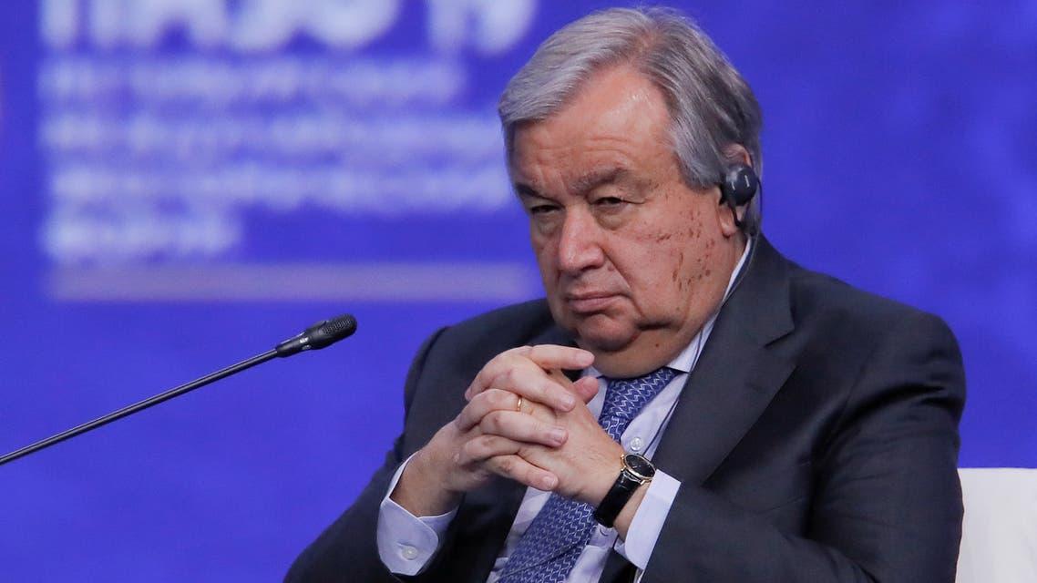United Nations Secretary-General Antonio Guterres attends Lisboa+21 conference in Lisbon, Portugal June 23, 2019. REUTERS/Rafael Marchante