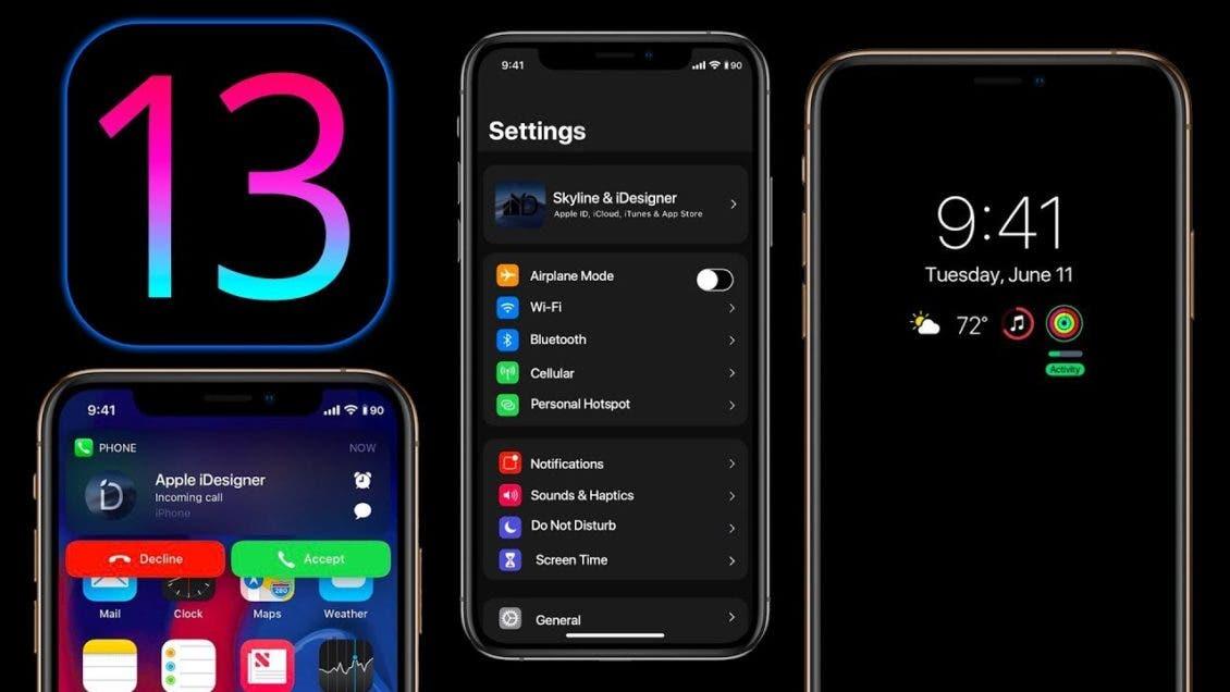 نظام iOS13 يدعم الوضع الداكن