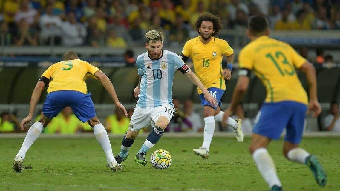 ميسي البرازيل الأرجنتين