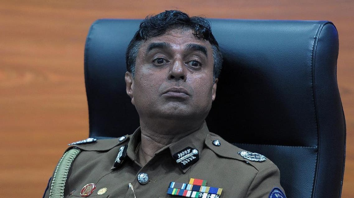 Sri Lanka police chief Pujith Jayasundara looks on after launching the first on-line service delivery of the Sri Lankan police at the headquarters in Colombo on March 7, 2017. For the first time, the police will allow applications for security clearance to be issued on line. Ishara S. KODIKARA / AFP
