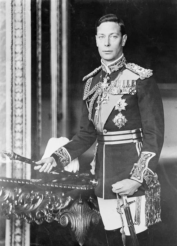 صورة لملك بريطانيا جورج السادس
