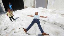 قدرت کا کرشمہ، جون جولائی کی گرمی میں میکسیکو میں شدید برف باری