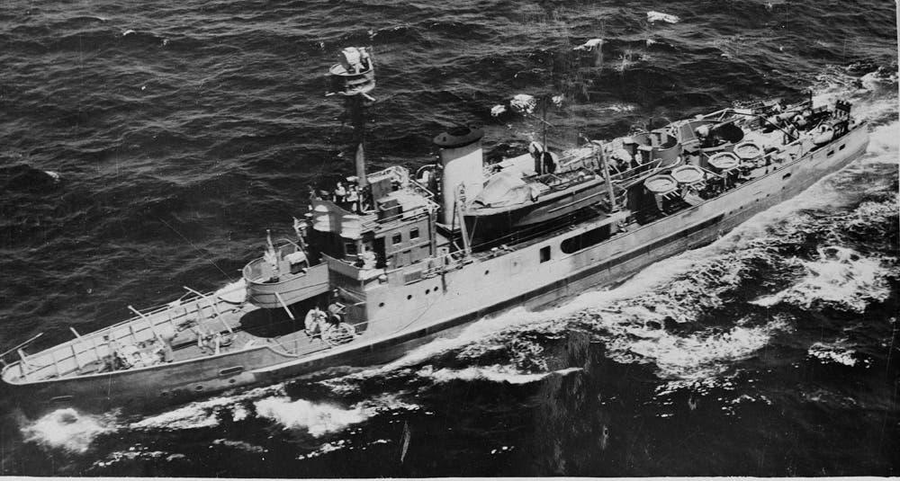 صورة لكاسحة الألغام البحرية أبراهام كريسن خلال الثلاثينيات