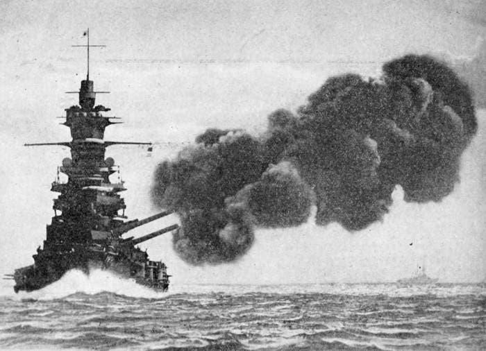 صورة لإحدى القطع الحربية اليابانية خلال الحرب العالمية الثانية