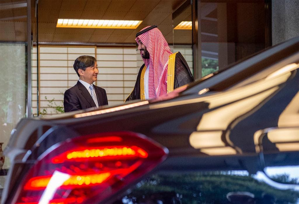 Saudi Crown Prince and Japan Emperor - SPA