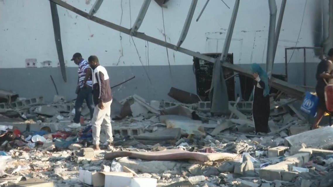THUMBNAIL_ مشاهد جديدة ما بعد قصف مخيم اللاجئين في ليبيا