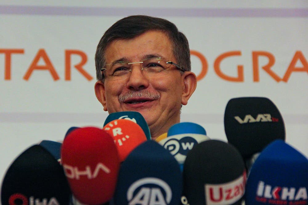"""A file photo shows former Turkish prime minister and """"Future Party"""" chairman Ahmet Davutoglu. (AFP)"""